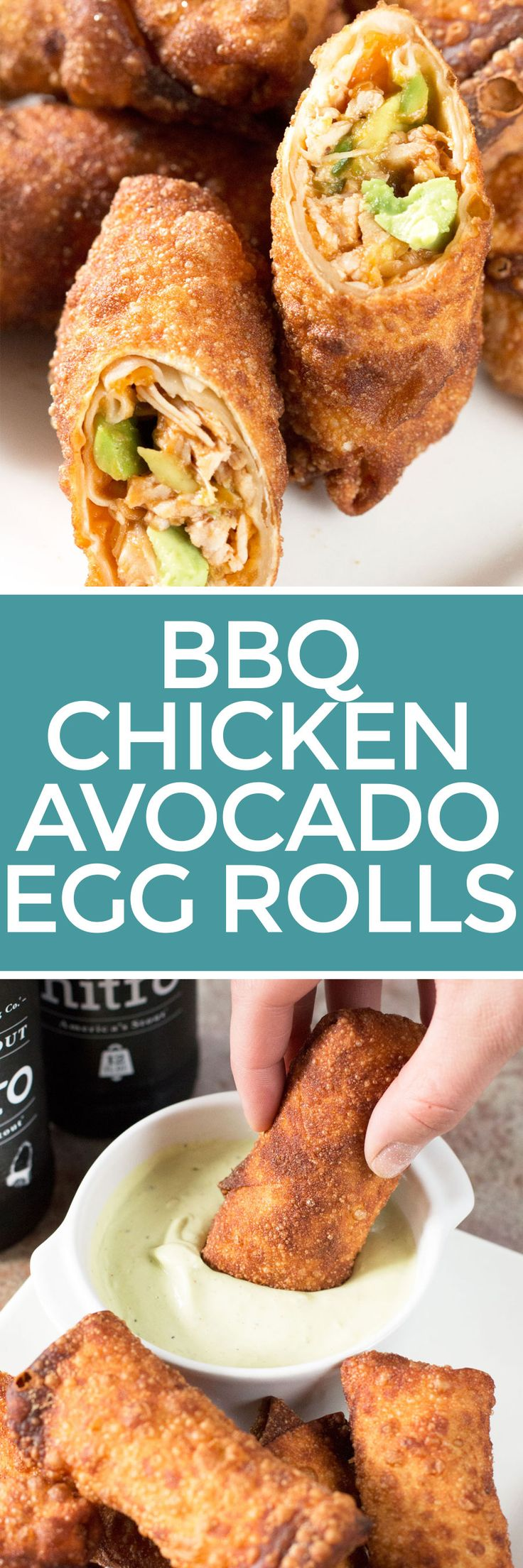 Avocado Eggrolls with BBQ Chicken – Cake 'n Knife