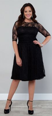 1940s Vintage Inspired Plus Size Dresses...I have this in teal but I think I want it in black