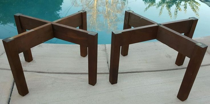 Org Acoustic Research AR Wooden Speaker Stands Pair also for JBL ALTEC KEF B&W  #AcousticResearch