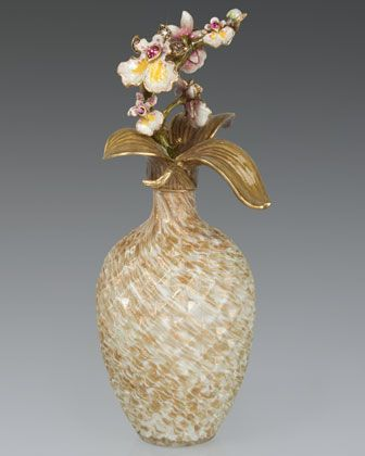 Orchid Branch Perfume Bottle by Jay Strongwater at Neiman Marcus.