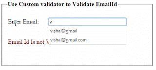 Custom Validator: Server Side validation using Custom Validator in ASP.NET (C# & Vb.NET).