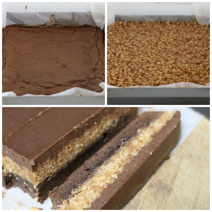 brownie crunch collage