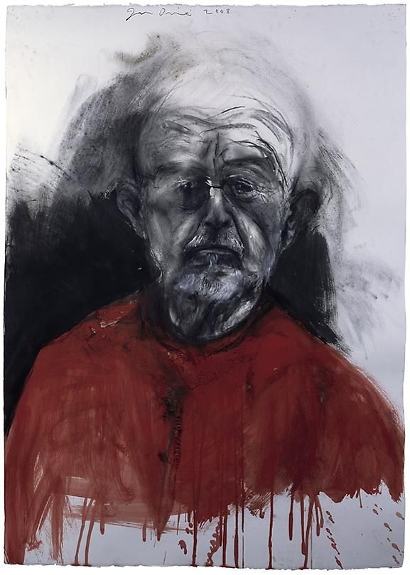 """Jim Dine """"Self-Portrait"""". Jim Dine is one of my favourite artists from the late 20th century. So expressive!"""
