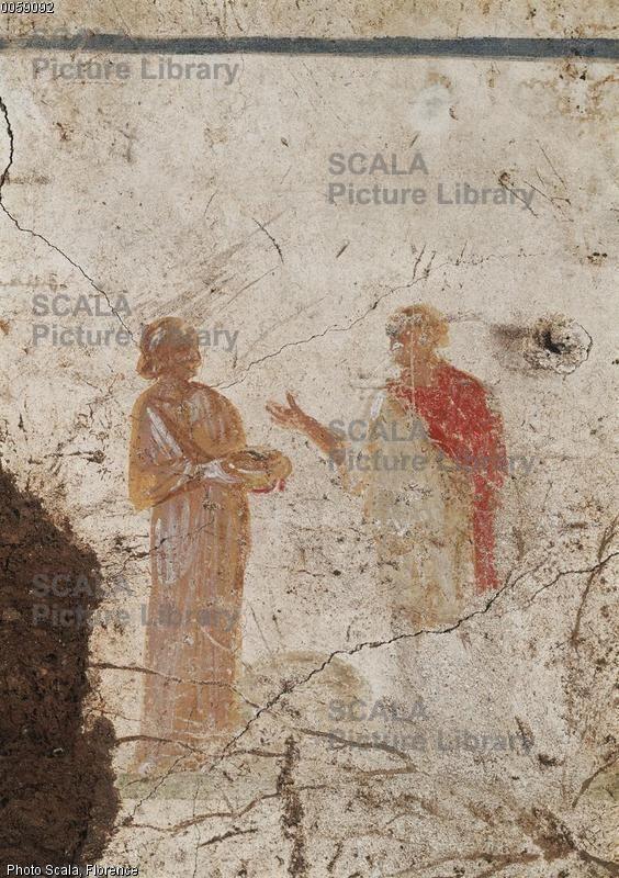 Catacombe di Pretestato, Roma. Gli affreschi del III secolo. Cristo e la Samaritana