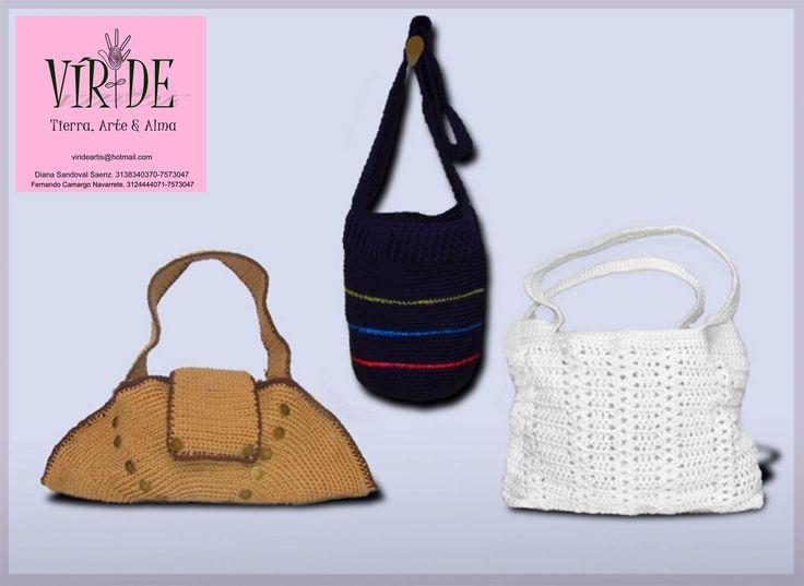Bolsos tejidos a mano!  VÍRIDE Es una marca inspirada en la naturaleza, trabajamos con material reciclado, retazos y sobrantes de todo tipo de material. Bienvenidos!!!