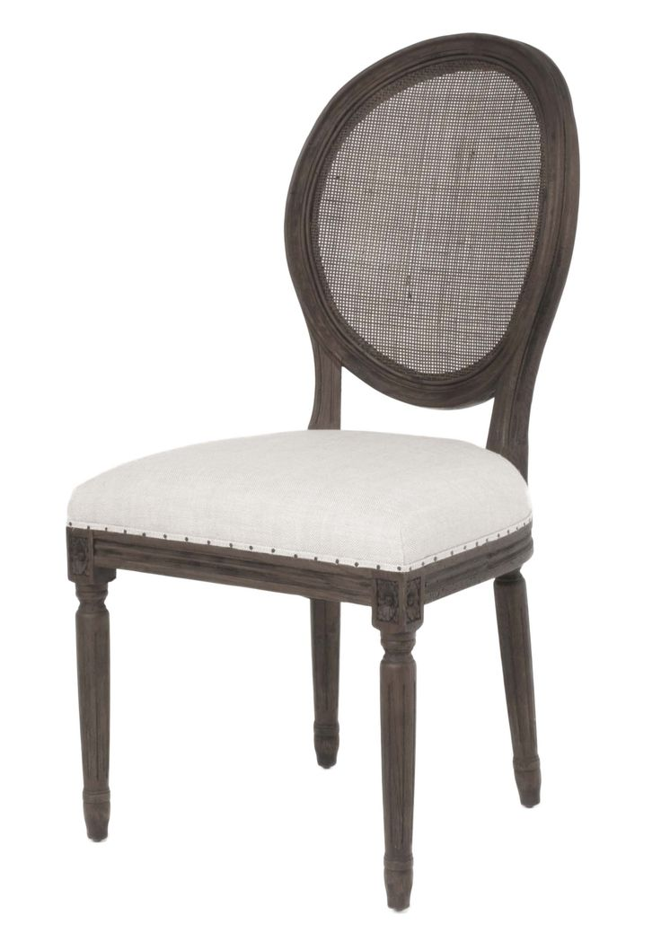 oliver dining chair with cane back bisque french linen seat and rustic java wood