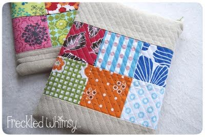 DIY quilted/patchwork ipad cover with zipper closure: Ipad Pouch, Pouch Tutorial, Freckled Whimsy, Tutorials, Ipad Cover, Cases, Bag, Ipad Case, Sewing Ideas