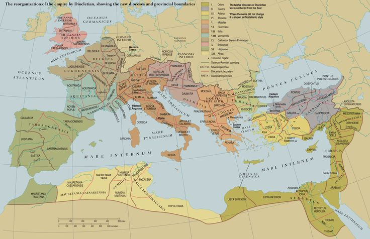 Diocletians dioceses historical maps bible mapping