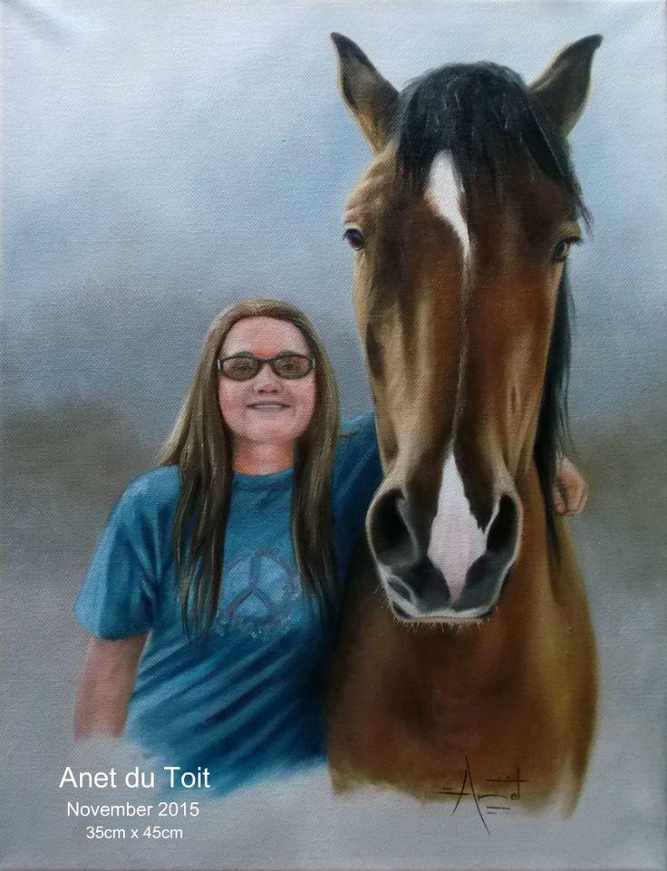 Cloe Oil on canvas 35cm x 45cm SOLD