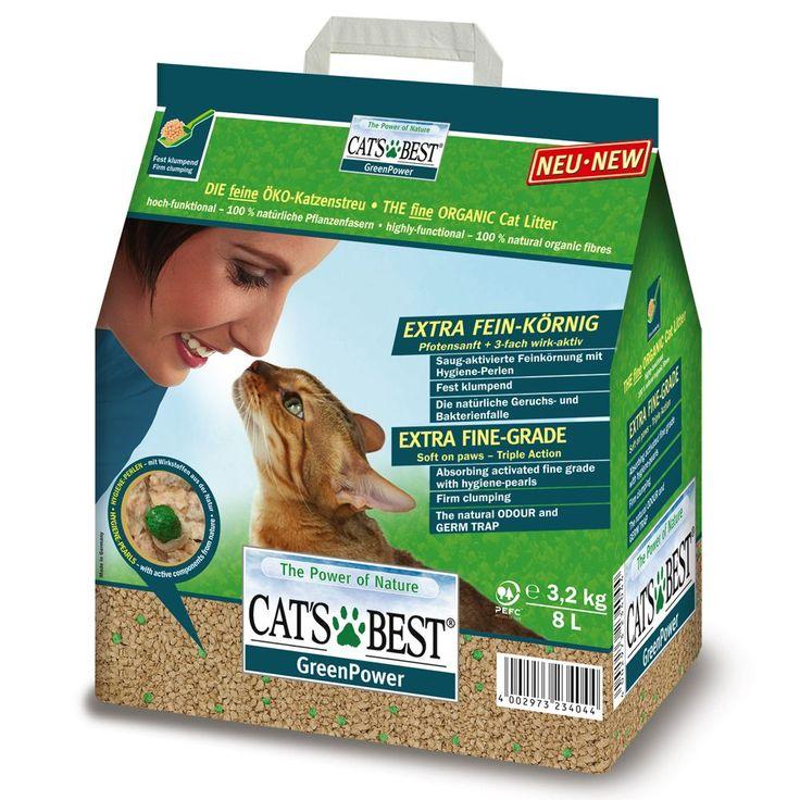 Animalerie  Litière Cats Best Green Power pour chat  8 l (32 kg)
