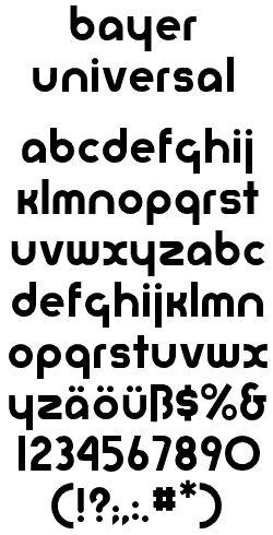 Bowfin Printworks - Font Identification - Type Samples - Bauhaus ...