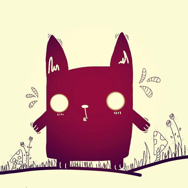 Illustration monster rabbit
