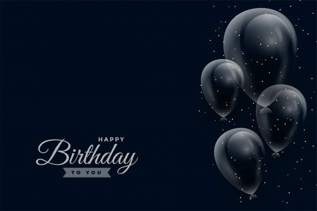 Download Happy Birthday Dark Background With Glossy Balloons For Free Birthday Background Images Happy Birthday Wallpaper Happy Birthday Black Download hd background happy birthday