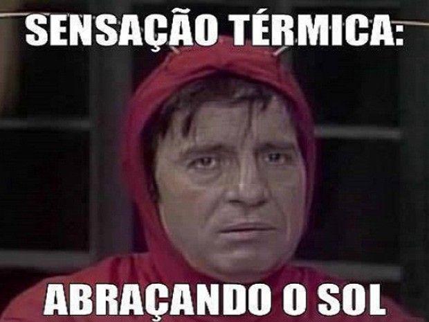 Meme usa imagem de Chapolin em piada sobre calor (Foto: Reprodução/Twitter/andredrs)