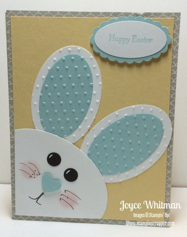 Punch Art Bunny Easter Card By Cookielady01 Cards And Paper Crafts