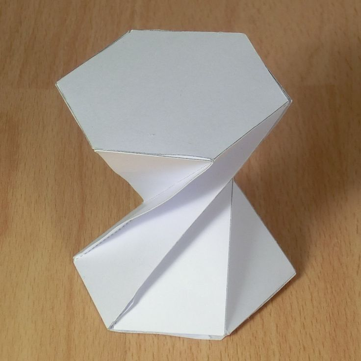 twisted hexagonal prism (180 degrees)