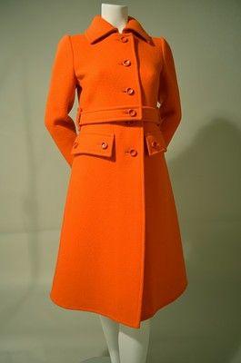 70s Vintage Orange COURREGES Coat   eBay, via Zuburbia