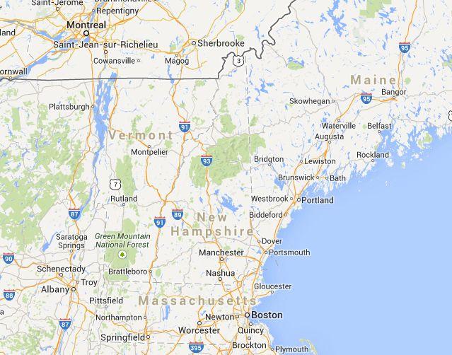 Map of New Hampshire Ski Resorts | SkiCentral.com
