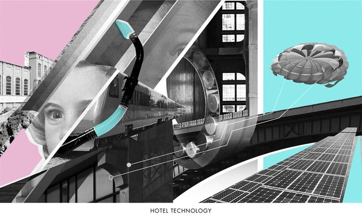 Illustrator Masha Rumyantseva's futurist-inspired collages give a surrealist spin to nomadic hotel aficionado Laurent Vernhes's guide to the gadgets and technology changing our travel experiences