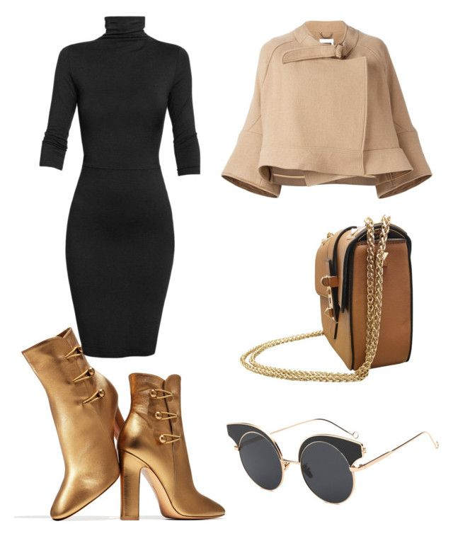 """Date"" by elenazaharia on Polyvore featuring Gianvito Rossi, Undress and Chloé"