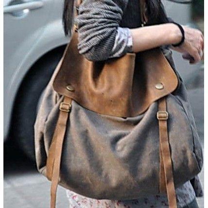 #02 MAIL™ vintage Canvas leather shoulder bag