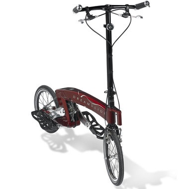 Pedestrian pedaler (cross between bike and skateboard)