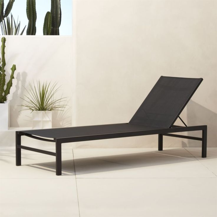 trendy outdoor furniture. shop idle black outdoor chaise lounge minimalist reclining basks in sleek trendy furniture c