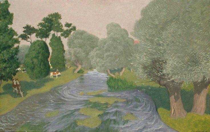 ヴァロットン ≪ノルマンディ地方  アルク=ラ=バタイユの風景 ≫ 1903 |67x103.5 cm |エルミタージュ美術館