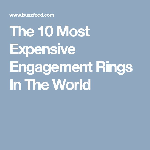 The 10 Most Expensive Engagement Rings In The World