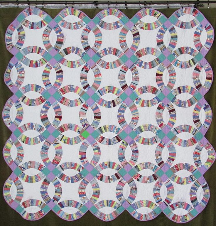 396 best Double Wedding Ring Quilt images on Pinterest Quilt