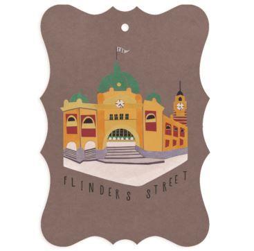 Gift tag Flinders Street - Bobangles #SundayPaper #Australia #gift #tag #Flinders #Melbourne