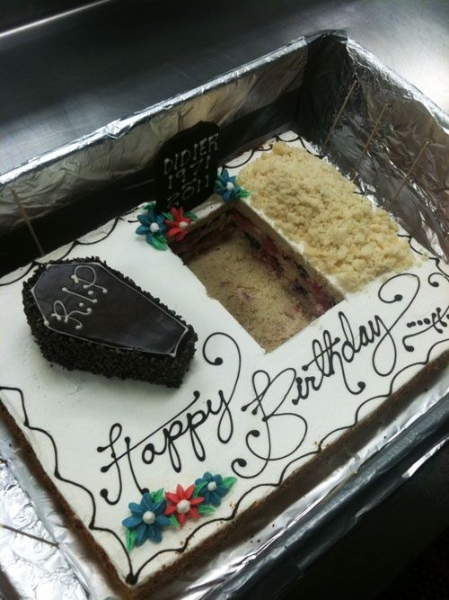 This is an awesome birthday cake for the old fart in your life