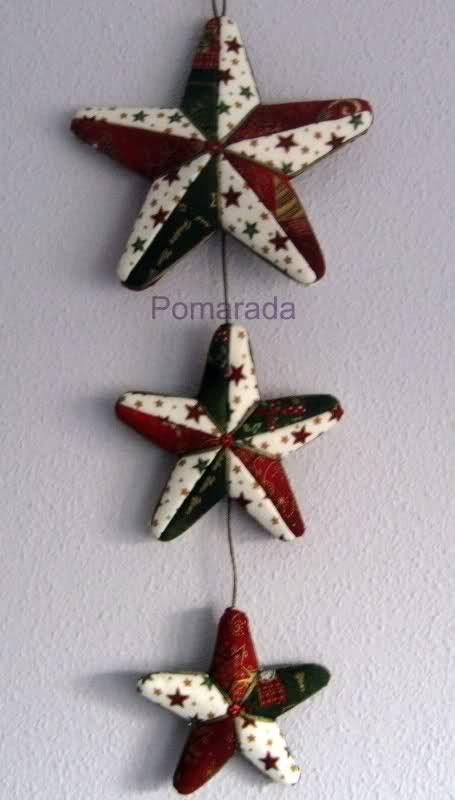 LA GALERIA DE POMARADA: Corona de Navidad y patchwork sin aguja