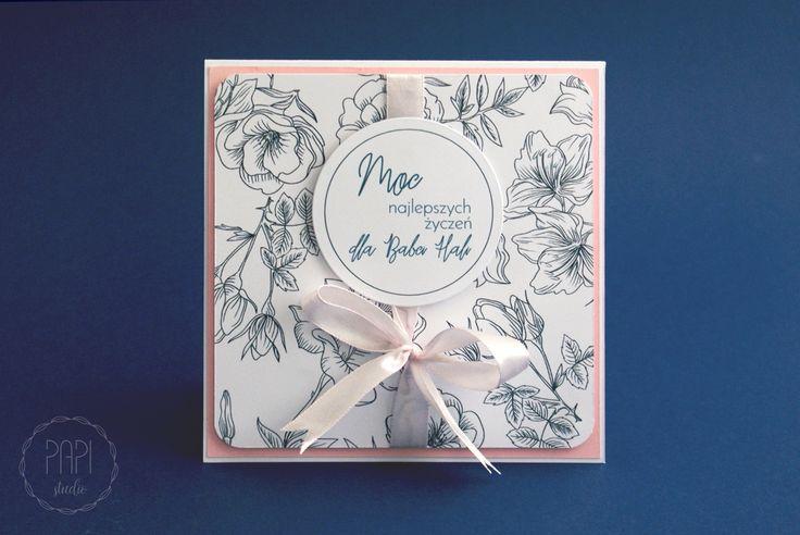 kartka dla babci nowoczesna handmade