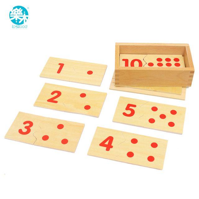 Numer Montessori Edukacyjne Drewniane Zabawki Dla Dzieci i Licznik Mecz-up Zabawki Puzzle Wczesnego Dzieciństwa Edukacji Przedszkolaków