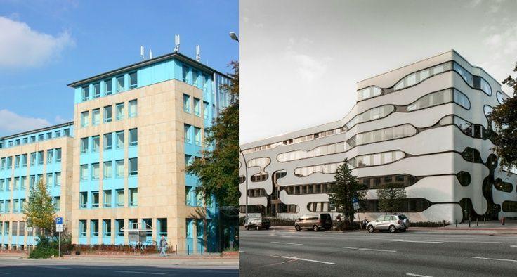 Impresionante remodelación de #fachada – Schlump ONE: before and after ('after'… – Liposcul…