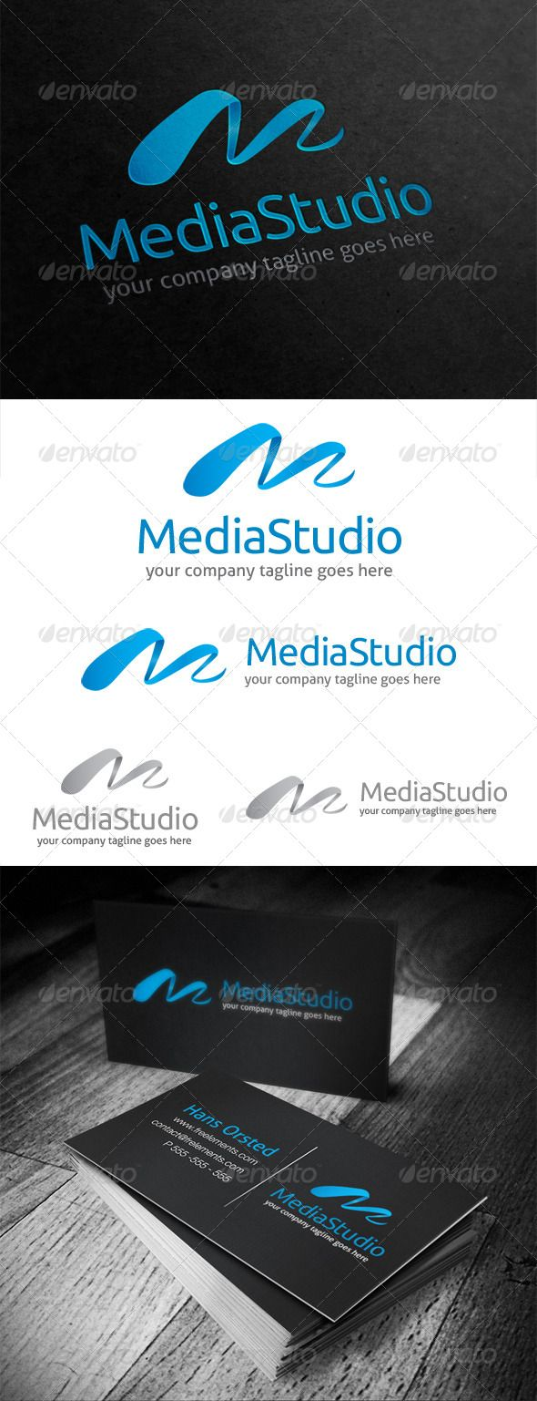 Template Formal Letter%0A Media Studio Letter M  Logo Design Template Vector  logotype Download it  here  http