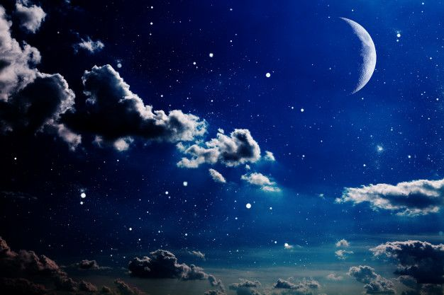 Night Sky With Stars And Moon Night Sky Moon Best Background Images Night Skies Cool night sky moon wallpaper for