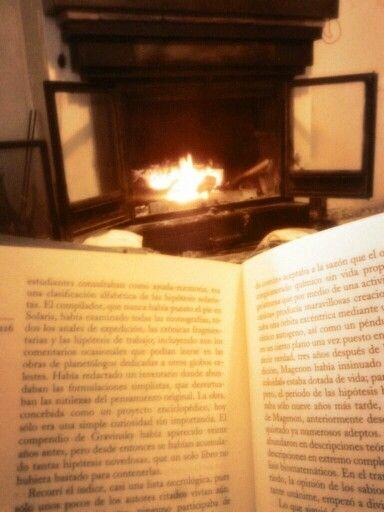 Leer junto a la chimenea hay un lugar mejor?:
