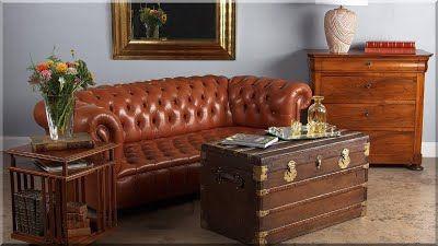 vintage bútor, chesterfield stílusú antik bútor