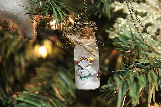 Мастерим снежный шар или миниатюрные баночки со снегом на Рождество - Ярмарка Мастеров - ручная работа, handmade