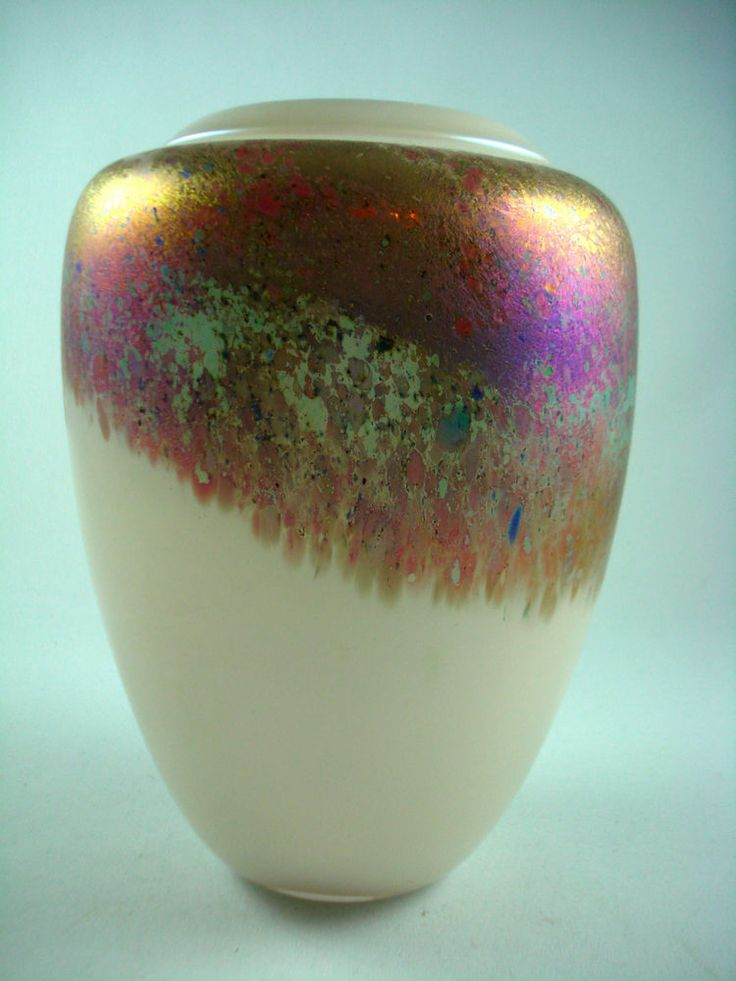 Vintage Robert Held Signed SKOOKUM Art Glass Vase | Robert ...