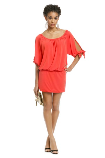 Nicole Miller tangerine dress $75