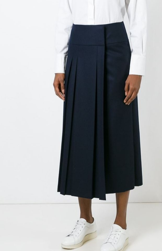 08Sircus pleated wrap skirt, available now at Farfetch