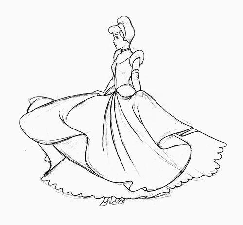 Cinderella animated sketch art