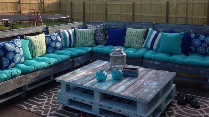 preciosos conjuntos para la terraza hechos con palets