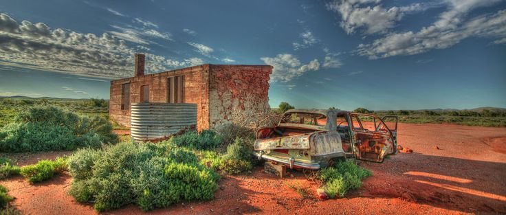 Silverton. Take the road from Broken Hill and drive westwards - awesome.