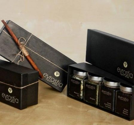 """Evrostia+Organic+Goods"",+Gift+Set,+4+Jars+to+your+Choice.Send+a+health+and+valuable+Gift+to+someone+you+care.+An+Ideal+Business+and+Corporate+Gift.All+of+our+products+are+top+quality+organically+grown+foods+certified+by+the+Organisation+of+Inspection+and+Certification+of+Organic+Products+(DHO)."