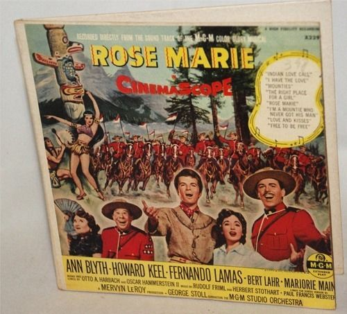 Rose Marie 45RPM EP Soundtrack Album of 1954 MGM Musical CinemaScope