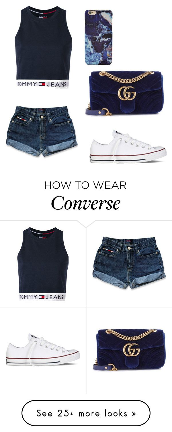 """""""Boring financial stuff"""" by sarahfohlen on Polyvore featuring Tommy Hilfiger, Gucci, Converse, Forever 21, Summer and 2k17"""